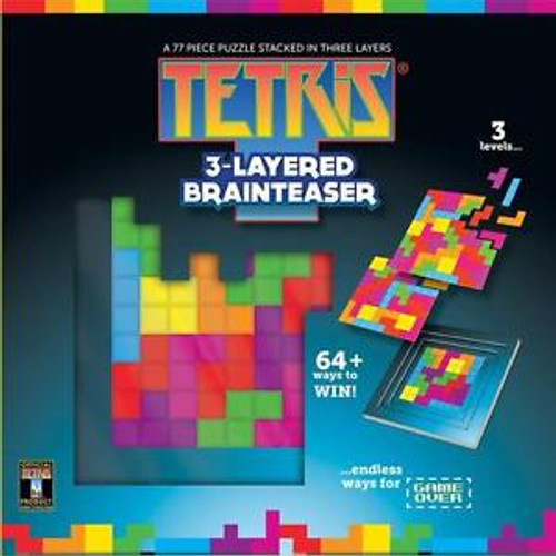 Tetris® 3-Layered Brainteaser - Layered Puzzle By Masterpieces