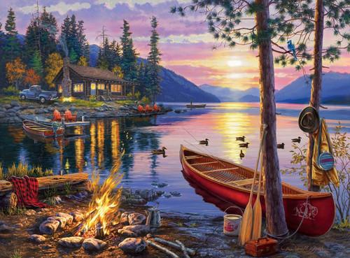 Darrell Bush: Canoe Lake - 1000pc Jigsaw Puzzle by Buffalo Games