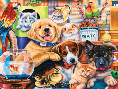 Playful Paws: Home Wanted - 300pc EZ Grip Jigsaw Puzzle by Masterpieces
