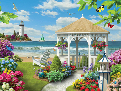 Memory Lane: Oceanside View - 300pc EZ Grip Jigsaw Puzzle By Masterpieces