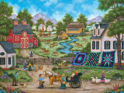Heartland: Roadside Gossip - 550pc Jigsaw Puzzle by Masterpieces