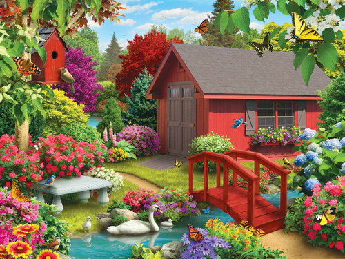 Lazy Days: Over the Bridge - 750pc Jigsaw Puzzle by Masterpieces