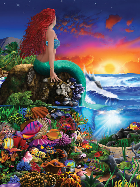 Book Box: Little Mermaid - 300pc EZ Grip Jigsaw Puzzle by Masterpieces