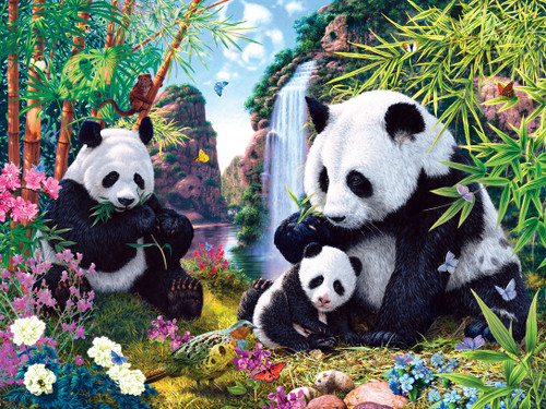 Hidden Images: Shangri La - 550pc Glow in the Dark Jigsaw Puzzle by Masterpieces
