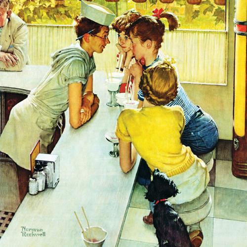 Jigsaw Puzzles - Norman Rockwell: Soda Jerk