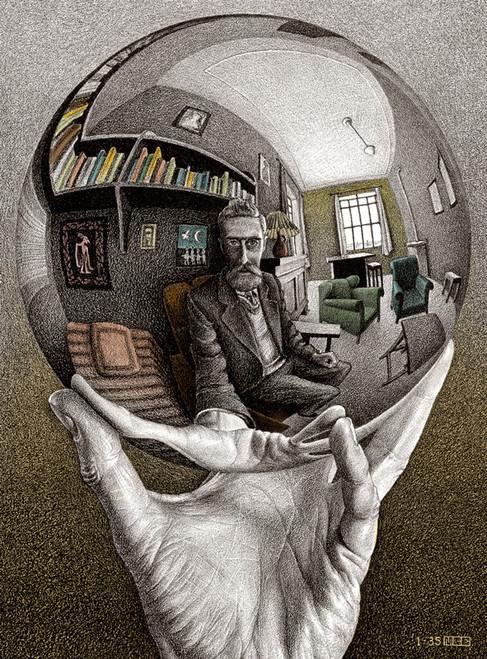 M.C. Escher: Self Portrait - 1000pc Jigsaw Puzzle by Buffalo Games