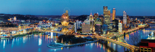 Cityscape: Pittsburgh - 1000pc Panoramic Jigsaw Puzzle by Masterpieces