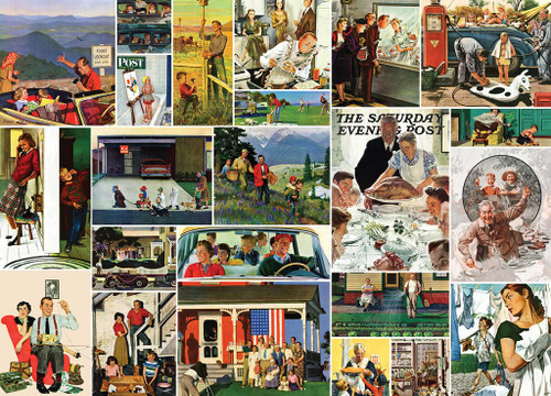 Saturday Evening Post: Family Time Collage - 1000pc Jigsaw Puzzle By Masterpieces