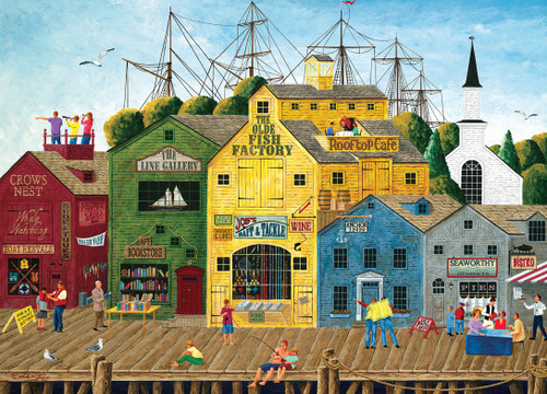 Hometown: Crow's Nest Harbor - 1000pc Jigsaw Puzzle by Masterpieces