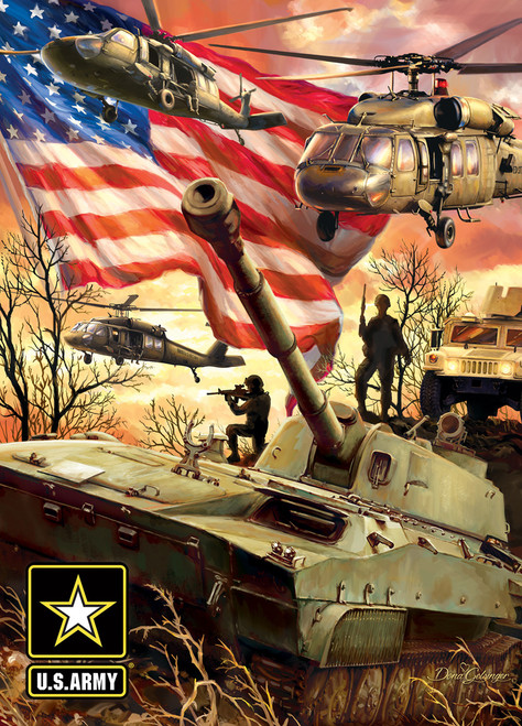 US Army: Army Firepower - 1000pc Jigsaw Puzzle By Masterpieces