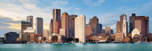 Cityscape: Boston - 1000pc Panoramic Jigsaw Puzzle by Masterpieces