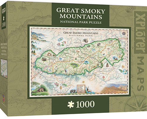 Xplorer: Great Smoky Mountains - 1000pc Jigsaw Puzzle By Masterpieces
