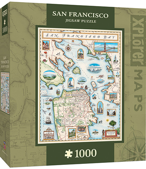 Xplorer: San Francisco Bay - 1000pc Jigsaw Puzzle By Masterpieces