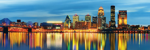 Cityscape: Louisville - 1000pc Panoramic Jigsaw Puzzle by Masterpieces