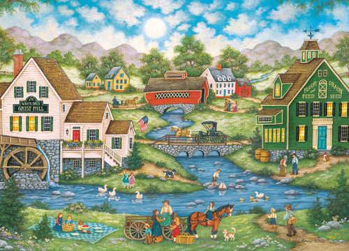 Hometown: Millside Picnic - 1000pc Jigsaw Puzzle by Masterpieces