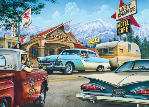Cruisin' Rt66: On the Road Again - 1000pc Jigsaw Puzzle by Masterpieces