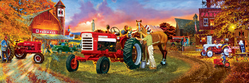 John Deere: Farmall Horse Power Pano - 1000pc Panoramic Jigsaw Puzzle by Masterpieces