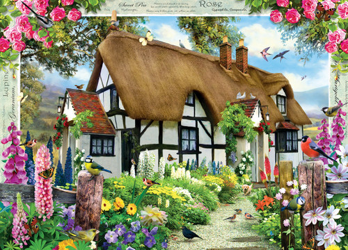 Rose Cottage - 1000pc Jigsaw Puzzle by Masterpieces
