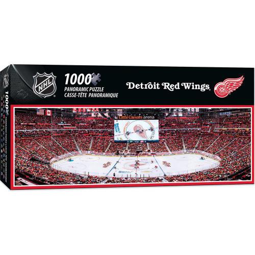 NHL: Detroit Red Wings - 1000pc Panoramic Jigsaw Puzzle By Masterpieces
