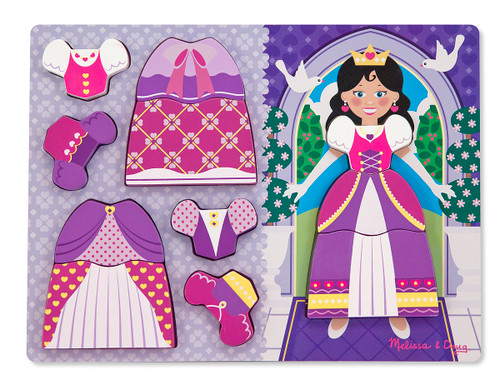 Melissa & Doug Princess Dress-Up Chunky Wood Puzzle