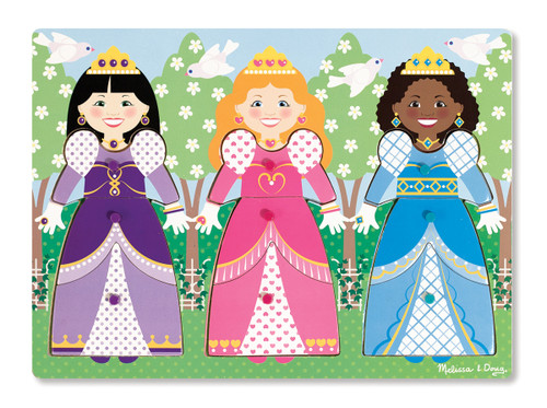 Melissa & Doug Dress-Up Princesses Peg Puzzle