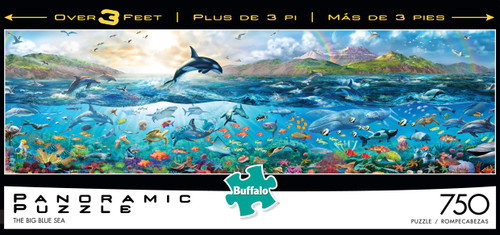 Buffalo Games The Big Blue Sea Panoramic Jigsaw Puzzle