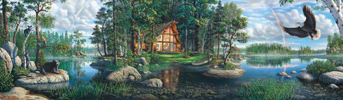 Buffalo Games Freedom's Promise by Kim Norlien Panoramic Jigsaw Puzzle