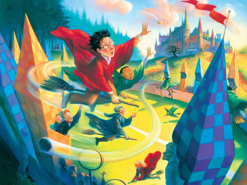 Harry Potter: Quidditch - 1000pc Jigsaw Puzzle by New York Puzzle Company