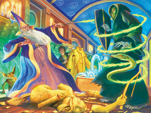 Harry Potter: Dueling Wizards - 750pc Jigsaw Puzzle by New York Puzzle Company
