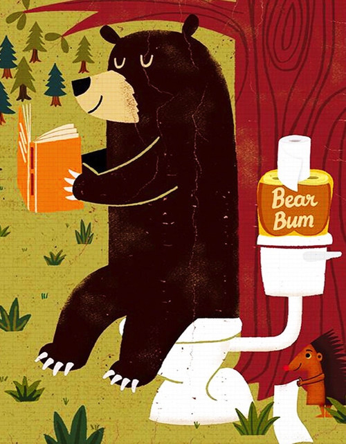 Bear Bum - 100pc Mini Jigsaw Puzzle by New York Puzzle Co.