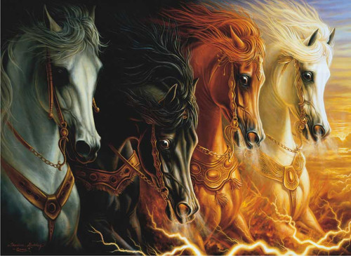 Perre Jigsaw Puzzles - 4 Horses of the Apocalypse