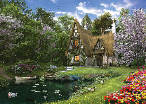 Perre Jigsaw Puzzles - Spring Lake Cottage