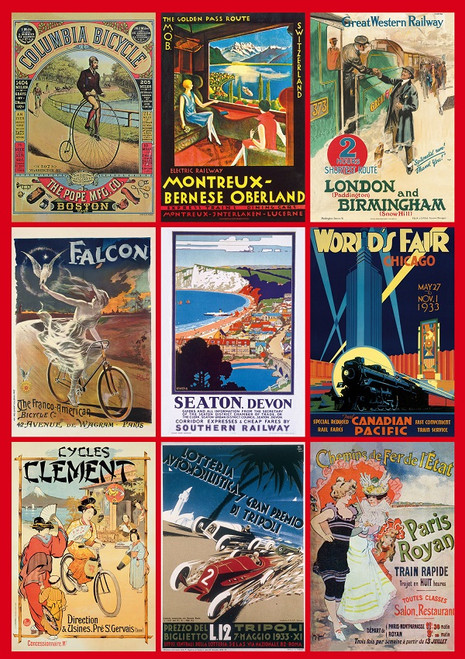 Vintage Transport Posters - 1000pc Jigsaw Puzzle by Piatnik