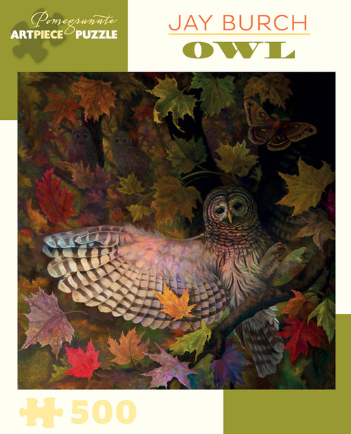 Pomegranate Burch: Owl 500-piece Jigsaw Puzzle
