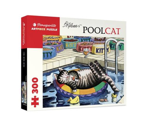 Pomegranate Kilban: Pool Cat 500-piece Jigsaw Puzzle