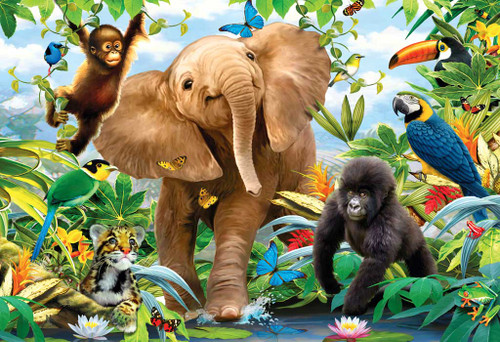 Floor Jigsaw Puzzles For Kids - Jungle Juniors