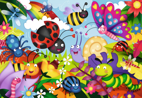 Cute Bugs - 24pc Super Sized Jigsaw Floor Puzzle by Ravensburger