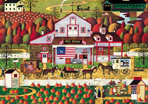 Autumn Farms - 500pc Jigsaw Puzzle by Buffalo Games (discon)