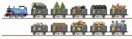 Thomas & Friends: Counting Train - 21pc Shaped Jigsaw Puzzle by Ravensburger (discon)