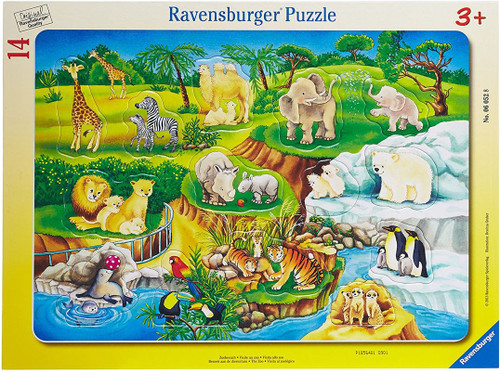 My First Frame Puzzle: The Zoo - 14pc Jigsaw Puzzle By Ravensburger