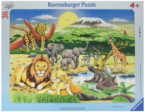 African Animals - 36pc Frame Puzzle by Ravensburger (discon)