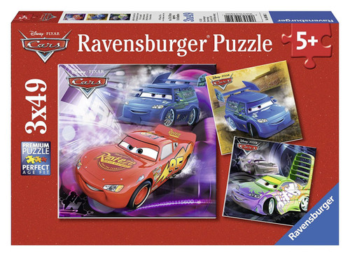 Cars 3 - 3 x 49pc Jigsaw Puzzles By Ravensburger