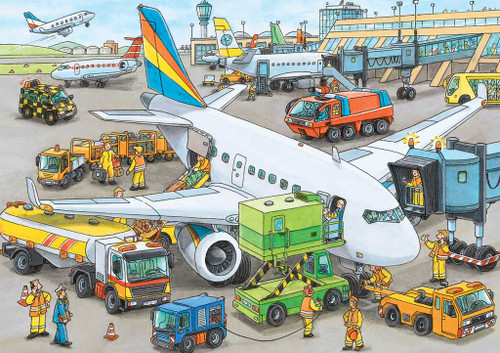 Jigsaw Puzzles for Kids - Busy Airport