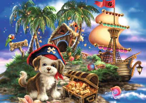 Puppy Pirate - 35pc Jigsaw Puzzle by Ravensburger (discon)
