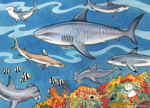 Sea of Sharks - 60pc Jigsaw Puzzle by Ravensburger