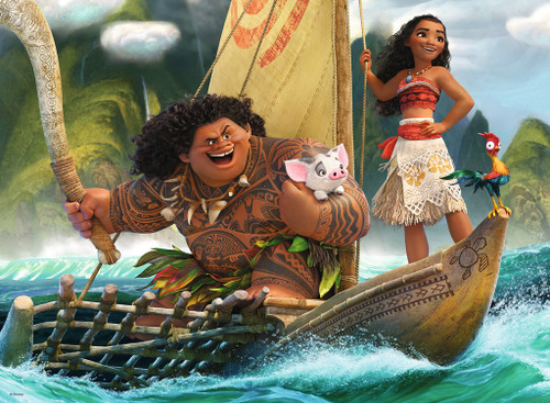 Moana and Maui - 100pc Jigsaw Puzzle By Ravensburger