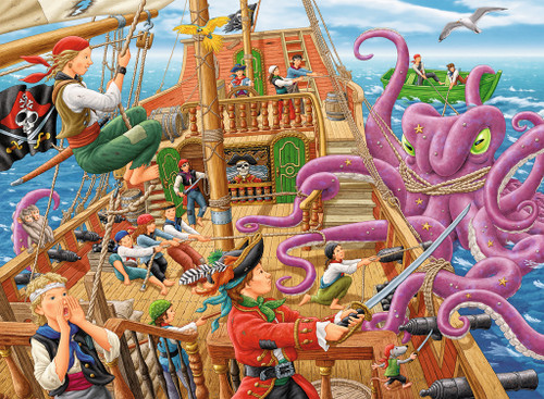 Pirate Boat Adventure - 100pc Jigsaw Puzzle By Ravensburger