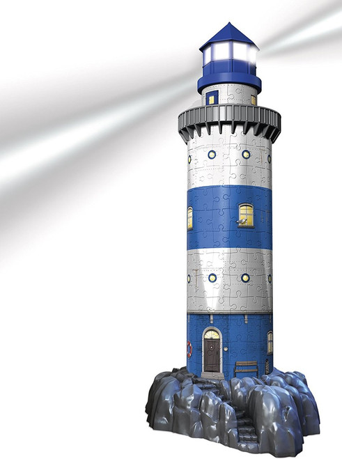 Lighthouse: Night Edition - 216pc Light-Up 3D Jigsaw Puzzle By Ravensburger