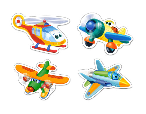 Funny Planes - 3,4,6,9pc Jigsaw Puzzle By Castorland