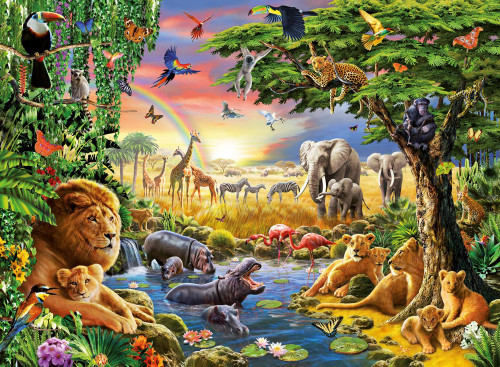 Ravensburger Jigsaw Puzzles - Evening at the Waterhole
